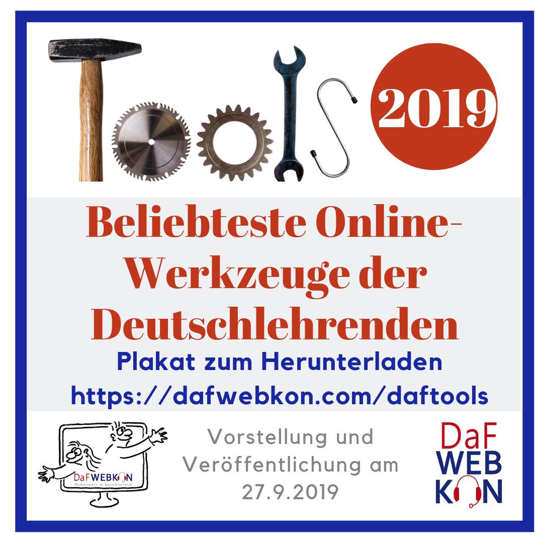 Ankündigung DaF-Tools-Plakat